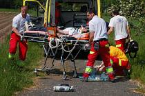 Těžké zranění si přivodil mladý muž, když se pod ním doslova rozpadlo jízdní kolo