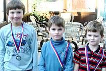 Trojice nejlepších hráčů kategorie HCP 54 a BEZ.