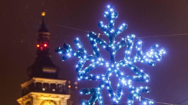 Vánoční výzdoba města Hradec Králové.