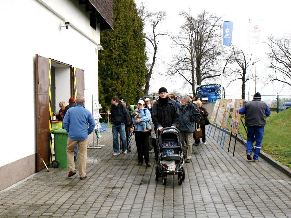 Den otevřených dveří v podzemním vodojemu na Novém Hradci Králové.