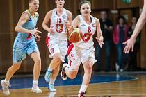 Ženská basketbalová liga: Sokol Hradec Králové - USK Praha.