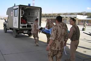 Transport afghánského pacienta