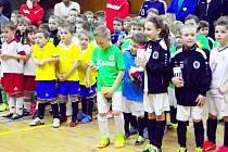 Halový turnaj fotbalové mládeže.