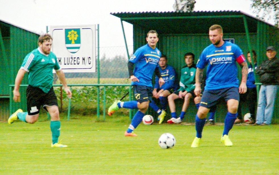 Okresní fotbalová CK Votrok III. třída: Lužec - Malšova Lhota.