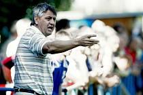 Trenér Nového Bydžova Miroslav Chalupa.