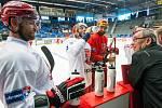 Trénink hradeckých hokejistů na ledě v rámci letní přípravy.