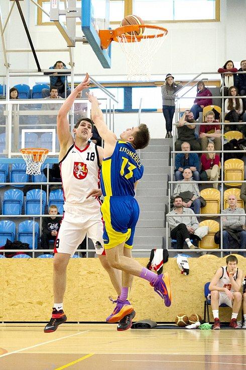 Basketbalová I. liga mužů - nadstavba A1: Sokol Hradec Králové 2 Pražské Předměstí - BK Slavoj Litoměřice.
