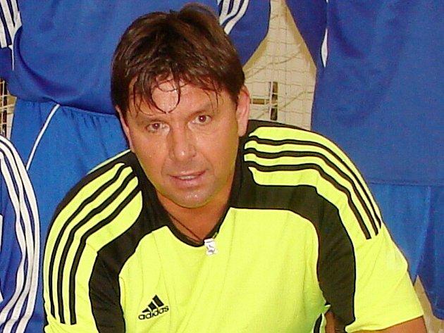 Milan Švenger, třebešský brankář.