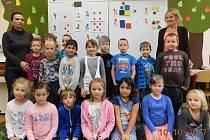 Žáci ze třídy 1. A v ZŠ Pouchov, Hradec Králové.