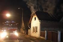 Požár v Nepolisech v pondělí 21. září.
