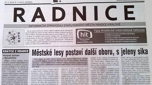 Radnice - informační zpravodaj statutárního města Hradec Králové.