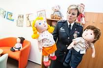 Výslechová místnost pro děti u policie v Hradci Králové.