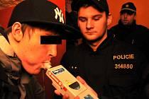 Policejní razie, kontrola mladistvých alkoholiků, 27. února 2009
