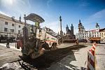opravy Velkého náměstí v Hradci Králové