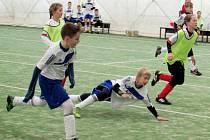 Stěžerská zimní halová liga ve fotbale.