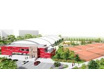 Vizualizace sportovního centra v hradecké Třebši.