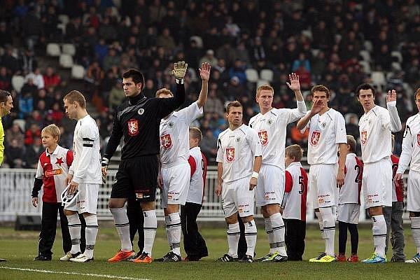 Fotbalová Gambrinus liga: FC Hradec Králové - SK Slavia Praha.