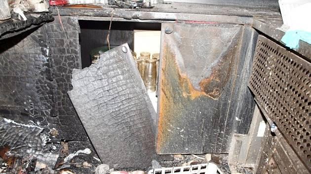 Požár v jedné z restaurací na Malém náměstí v Hradci Králové.