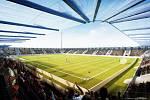 Vizualizace nového fotbalového stadionu
