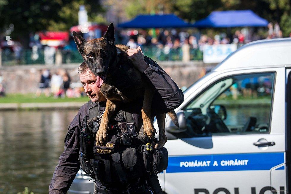 Akce Bezpečné nábřeží v Hradci Králové.