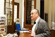 Karel Schwarzenberg v Muzeu východních Čech v Hradci Králové.