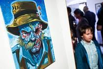 Výstava kreseb Karla Jerie v novoměstské galerii Zázvorka.