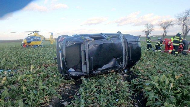 Havárie osobního automobilu uStarého Bydžova.