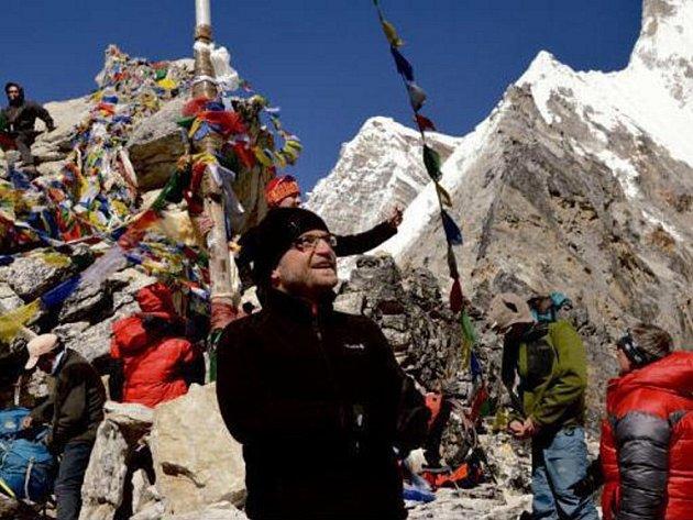 Tomáš Petráček na výpravě do Nepálu.