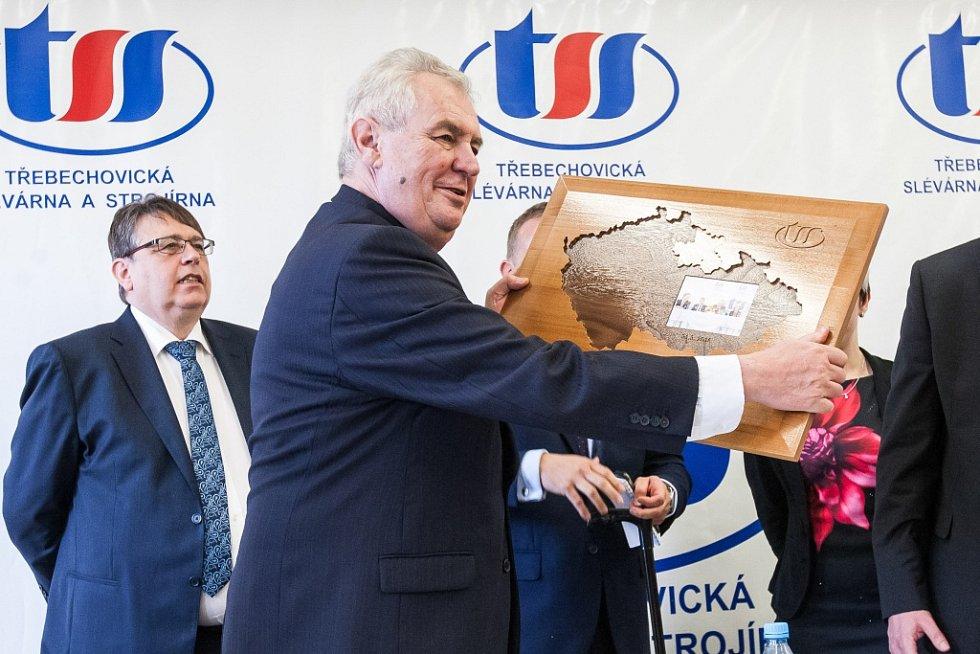 Prezident Miloš Zeman v Třebechovicích pod Orebem.