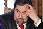 Ministr Radek John při své návštěvě Nového Bydžova ve čtvrtek 13. ledna 2011.