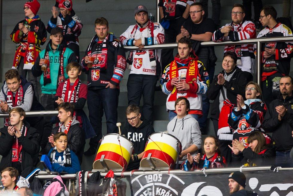 Čtvrtfinále play off hokejové Ligy mistrů: Mountfield HK - EV Zug.