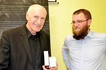 Návštěva profesora Martina Hilského v královéhradeckém Gymnáziu Boženy Němcové.