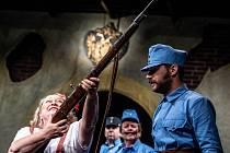 Zkouška hry Republika Králové ve Studiu Beseda hradeckého Klicperova divadla.