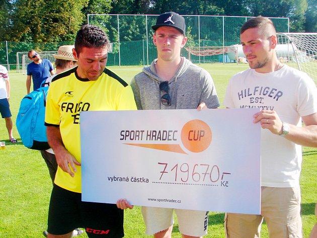 Celkový výtěžek z akce Sport Hradec Cup.