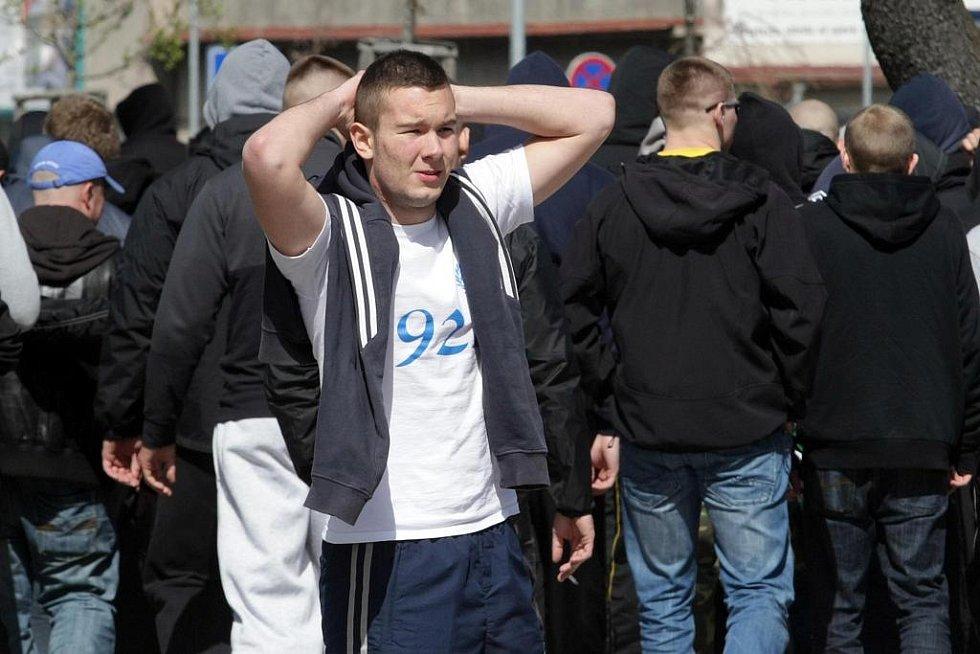 Fanoušci Baníku Ostrava dorazili 10. dubna na utkání s Hradcem Králové.