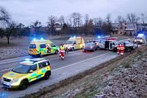 Hromadná dopravní nehoda u obce Lupenice.