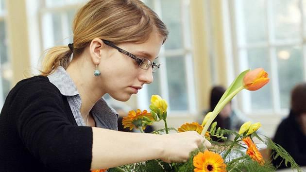 Studenti floristické školy oboru grafický design mají za sebou bohatou minulost.