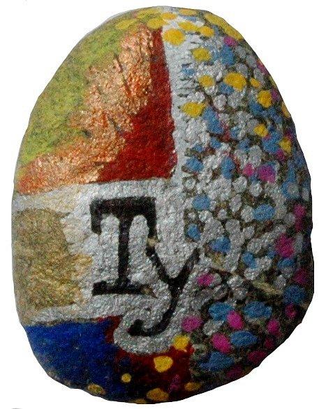 Omalovaný kamínek: Štěpán Málek.