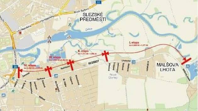 Uzavírka změnila letošní naplánované opravy silnice III/29827 spojující centrum Hradce Králové a Malšovu Lhotu.