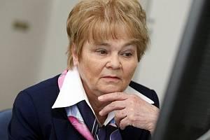 Hana Orgoníková, kandidátka ČSSD, při on-line rozhovoru v pondělí 12. dubna 2010.