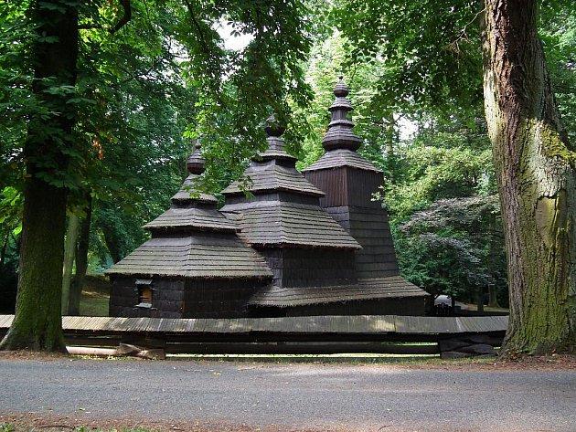Pravoslavný kostel v Jiráskových sadech v Hradci Králové.