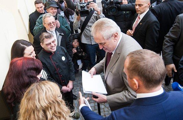 Prezident Miloš Zeman vHradci Králové.