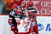 Úvodní utkání čtvrtfinále play off hokejového poháru Generali Česká Cup: Mountfield Hradec Králové - HC Oceláři Třinec