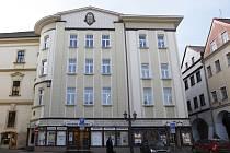 Dům obchodníka Antonína Hanuše od architekta Vladimíra Fultnera na Svatojánském náměstí v Hradci Králové.