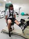 Hradečtí fotbalisté na fyzických testech.