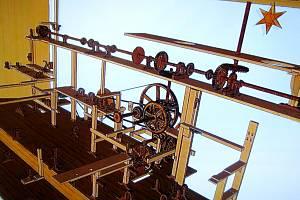Část mechanismu třebechovického Proboštova betlému.
