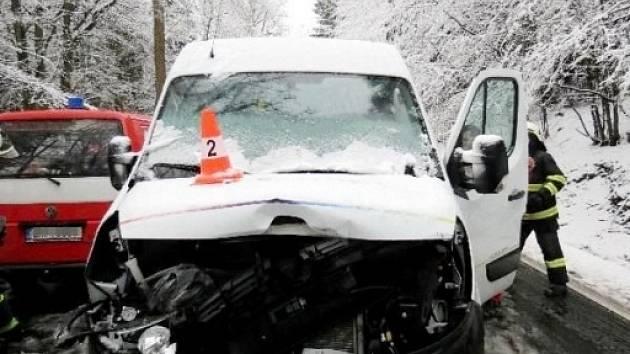 Dopravní nehoda poblíž Vamberku.