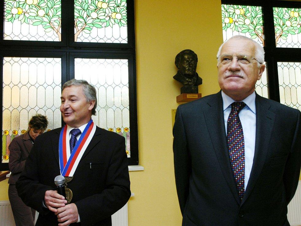 Prezident Klaus v Klicperově domě