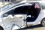 Dopravní nehoda na Gočárově třídě v Hradci Králové.