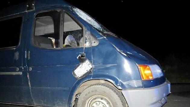 Z osudné nehody u obce Boharyně.